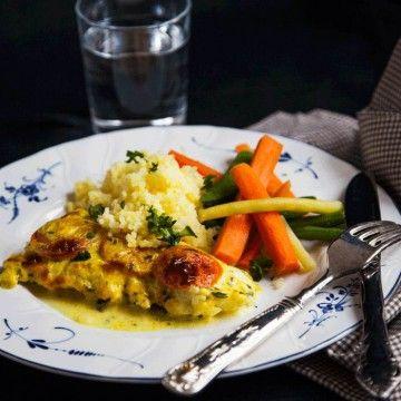 Snabb och enkel torsk i ugn med en smakrik currysås!