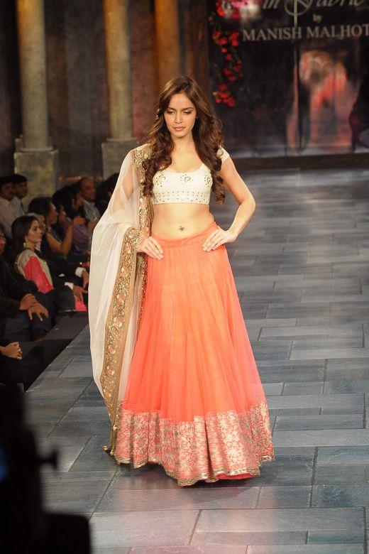 Love the color combo - Mijwan Show by Manish Malhotra via @AainaBridal