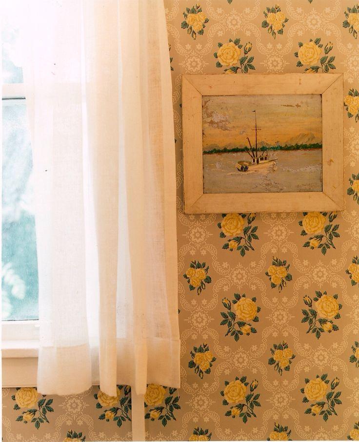 Pretty yellow wallpaper.