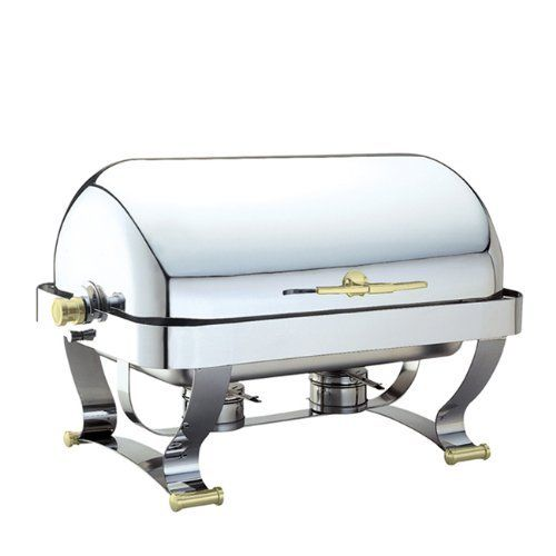 Walco Grandeur Rectangular Chafer 8-Quart, Gold Feet & Handles by Walco. $645.88. Includes dripless water pan. Fashionable strap style gold-tone legs and handle. Cover opens to 180 degrees. Gauge 18/10 stainless steel with gold-tone legs and handles. Tension controllable cover. Walco Grandeur Rectangular Chafers offer retractable lids that swing open to 90 or 180 degrees and are equipped with a tension-controlled mechanism to prevent lids from slamming closed when un...
