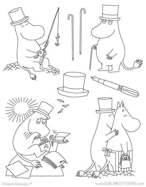 MOOMIN / Moomin Papa - Embroidery Patterns