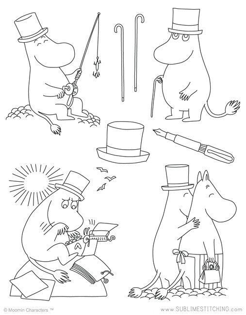 MOOMIN / Moomin Papa - Embroidery Patterns