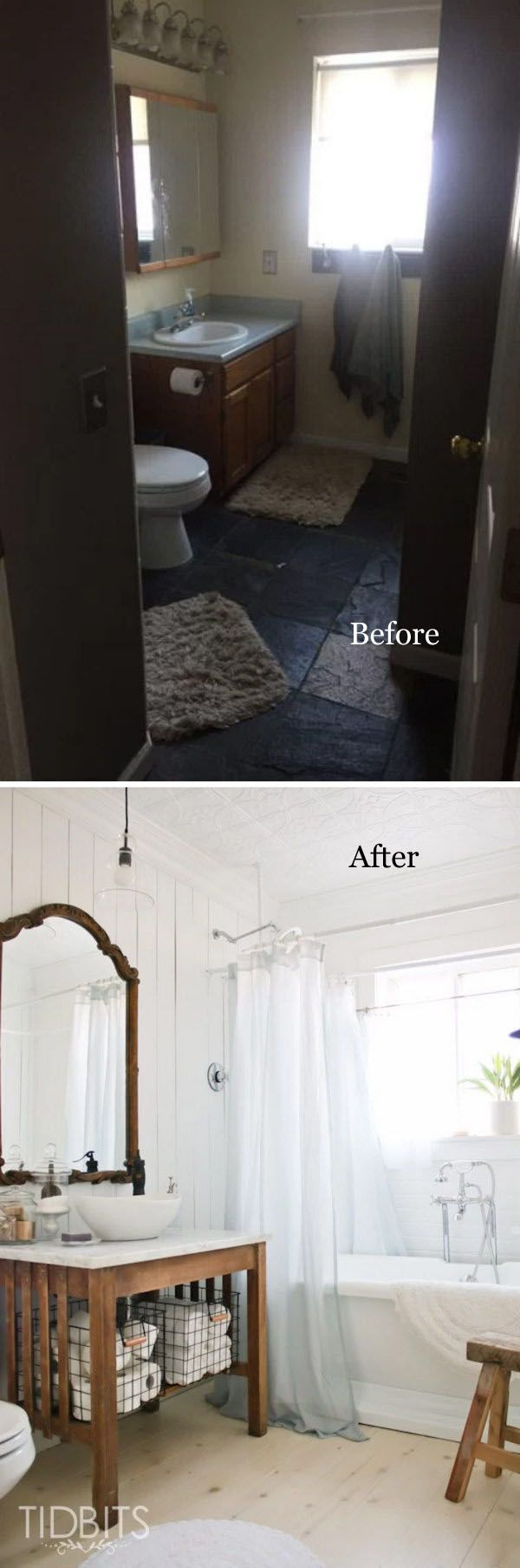 best bathroom before and after makeover images on pinterest
