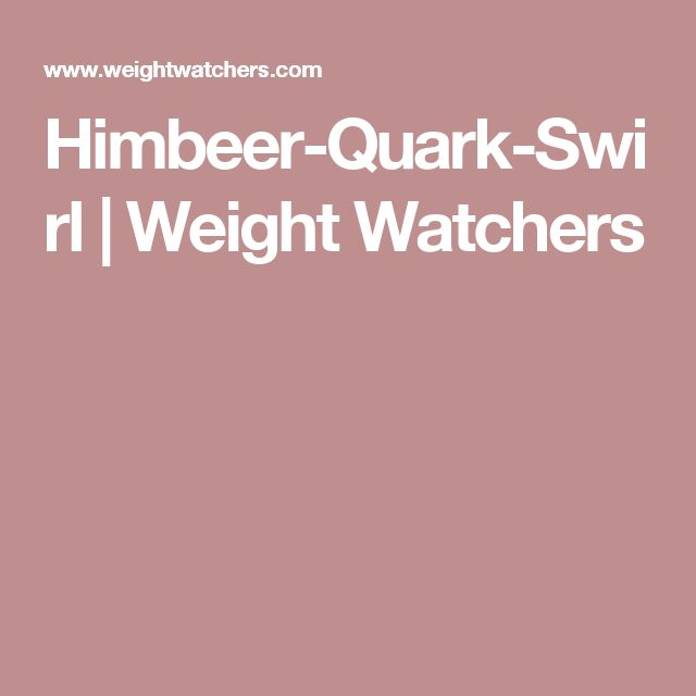 Himbeer-Quark-Swirl | Weight Watchers