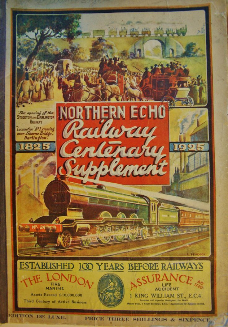 1925 commemorative edition supplement from the Northern Echo Newspaper, based in Darlington. This is the cover, there are 85 pages of text and photographs. Remarkable condition since it is nearly 100 years old.