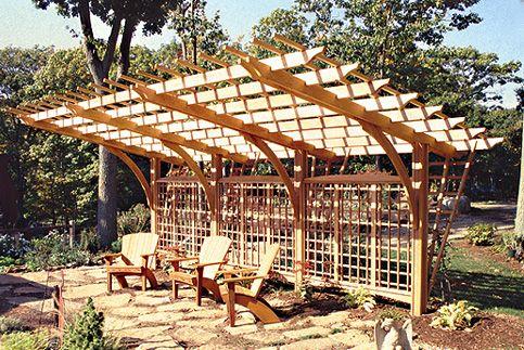 Big Cantilevered Pergola Outdoor Living Pinterest