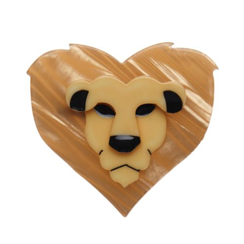"Erstwilder Limited Edition Lionheart resin brooch. ""Listen to your heart and remember wear me with pride for I am the King of this Erstwilder jungle."""