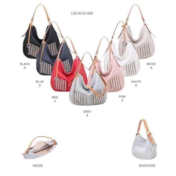 Photo of WOMEN'S SHOPPER BAG HANDBAG Top Handle Bag Shoulder Bag Hobo Bag Top Bag Rivets Cross-Over Travel Bag