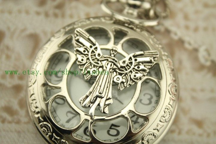CLOCKWORK ANGEL pocket watch necklace Mortal Instruments (IT'S FROM THE INFERNAL DEVICES!) by itabea, $6.99