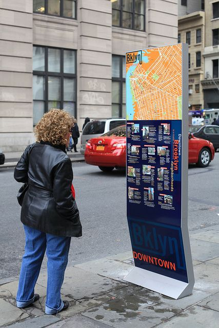 Downtown Brooklyn wayfinding signage by Two Twelve Associates, via Flickr
