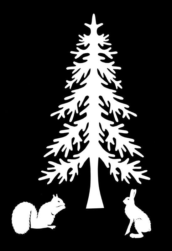 Шаблон для вырезания силуэта елки