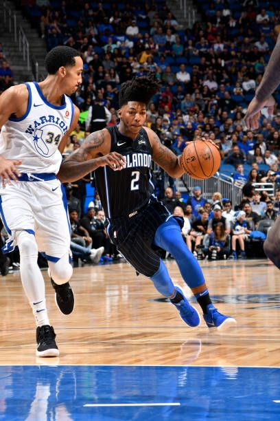Elfrid Payton of the Orlando Magic handles the ball against the Golden State Warriors on December 1 2017 at Amway Center in Orlando Florida NOTE TO...