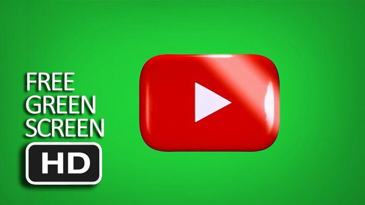 Free Green Screen - Youtube Logo Glow Screen Mask Loop