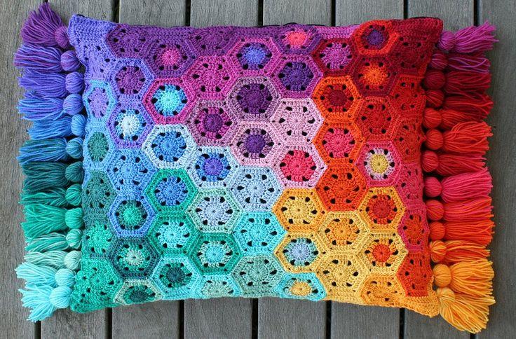 Hexagon Pixel cushion | Flickr - Photo Sharing!