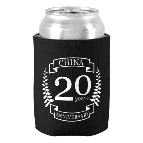 China Traditional wedding anniversary 20 years Can Cooler