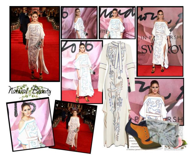 """2016 British Fashion Awards~ Olivia Palermo"" by snugget9530 ❤ liked on Polyvore featuring Peter Pilotto and Jimmy Choo"