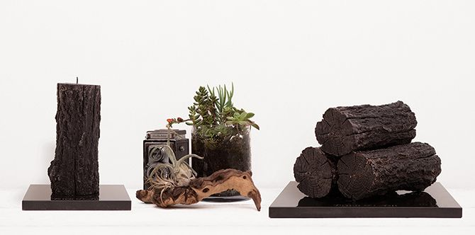 Candles that look like firewood. By genius Australia designer Pitch & Ash. Want.