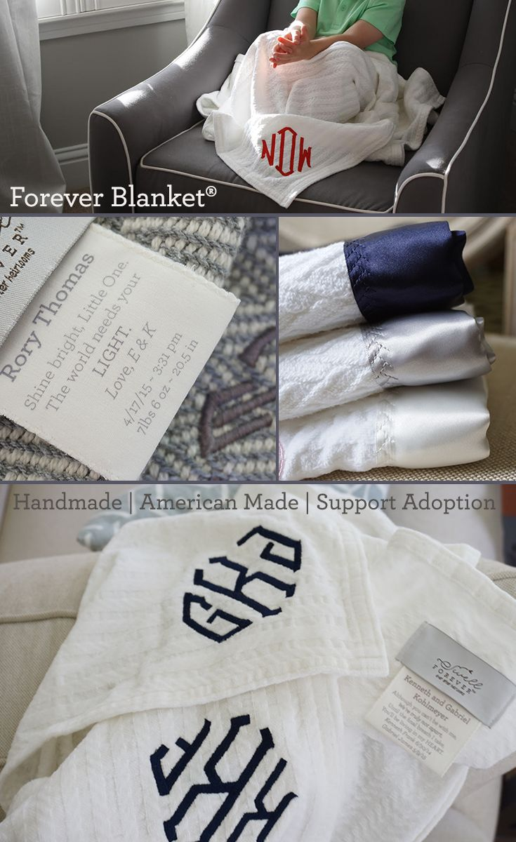 115 best forever blanket baby images on pinterest blankets going beyond the monogram swell forever designs heirloom gifts with unique tag customization personalization options each purchase supports adoption negle Choice Image