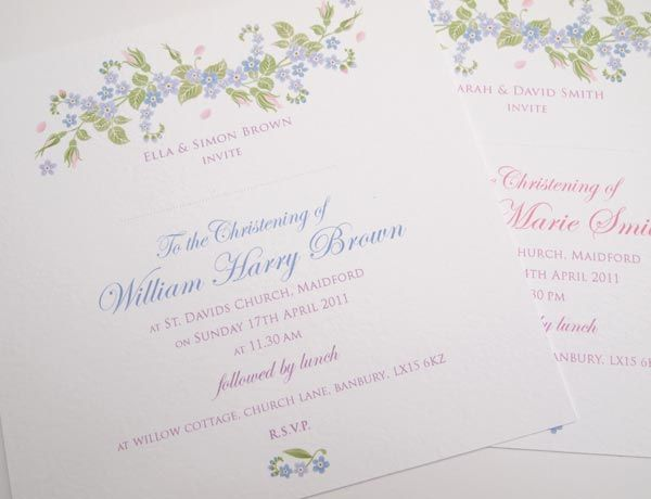 Forget Me Not Wedding Invitations: Top 7 Ideas About Birth Announcement Cards & Christening