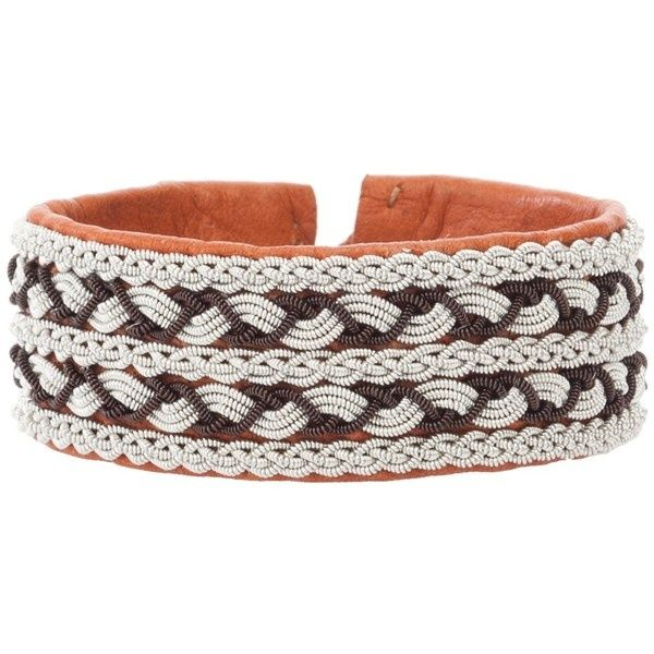 sami bracelets | SAMI Leather bracelet liked on Polyvore