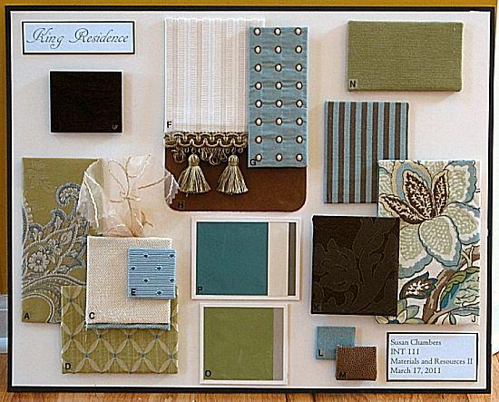 Materials and resources ii design board color pallets - Interior design schools in boston ...