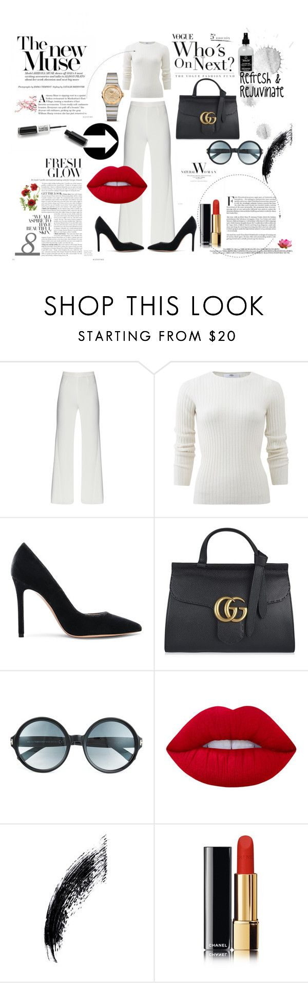 """Autumn Feels"" by brownsfamilyjewellers on Polyvore featuring Allude, Gianvito Rossi, Gucci, Tom Ford, Lime Crime, Little Barn Apothecary, Pink Lotus, LIPSTICK, Chanel and autumn"