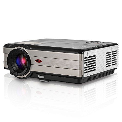 Cheap LCD Digital Video Projector LED Home Movie Cinema Theater Projector HDMI USB AV Audio HD Multimedia Projector Support 1080p for iPhone iPad Mac Laptop Tablet Android TV Box PS4 XBOX Roku 50000 Hours LED Lamp Free HDMI Cable Best Selling