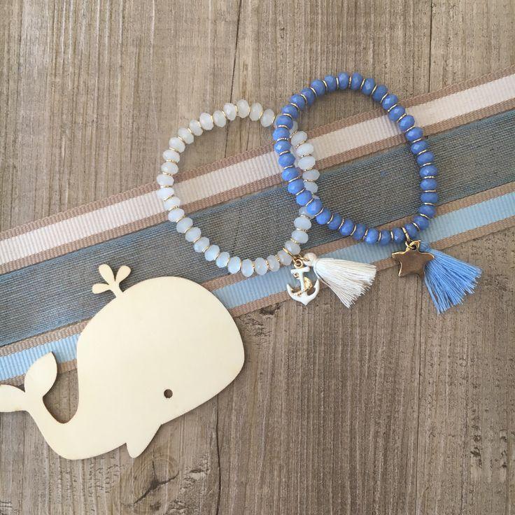 #duepuntihandmade #handmade #handmadewithlove #bracelets #pearls #sea #sun #tassels #cotton #summer #anchor #colors #blue #white #charms #finalmenteilsole #cristalpearls #starfish #ilovesummer #doityourself #diy