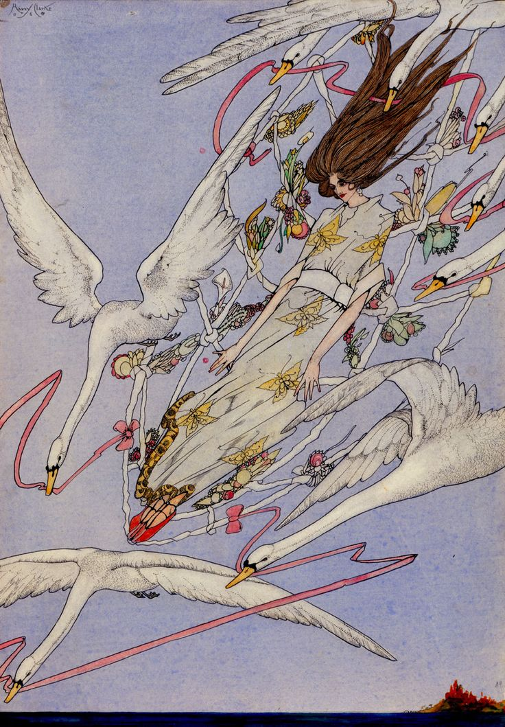 Harry Clarke (Ireland 1189-1931)-Hans Christian Andersen's Fairy Tales-The Wild Swan