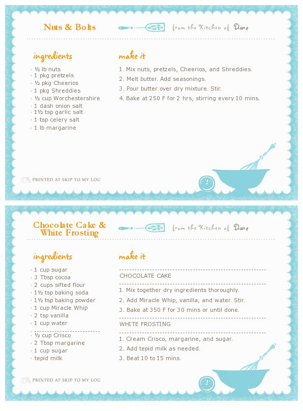 Recipe Card Template | Templates | Pinterest