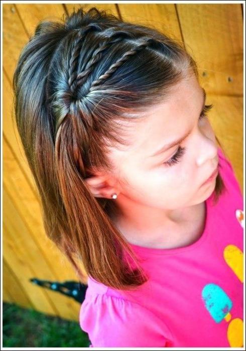 Neueste entzückende Frisuren für kleine Mädchen Süße Frisuren für Mädchen…