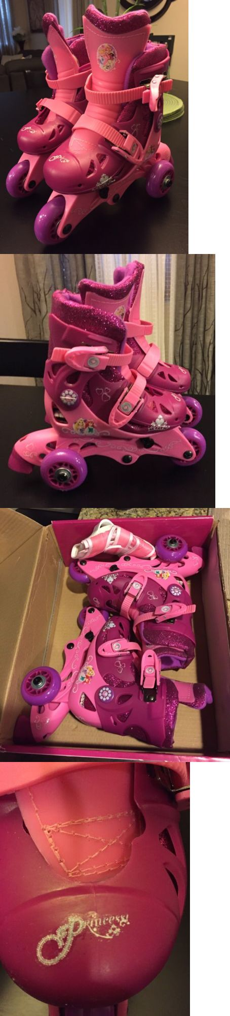 Indoor Roller Skating 165938: Playwheels Disney Princess Glitter Kids Convertible 2-In-1 Skates-Toddler Sz 6-9 -> BUY IT NOW ONLY: $45.99 on eBay!