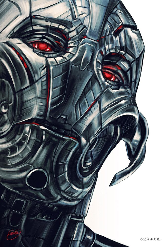 Avengers - Age of Ultron - Sam Gilbey - ''Ultron Portrait'' ----