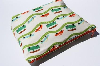 cars  flat bottom zipper bag by onnaBandA on Etsy, €19.00