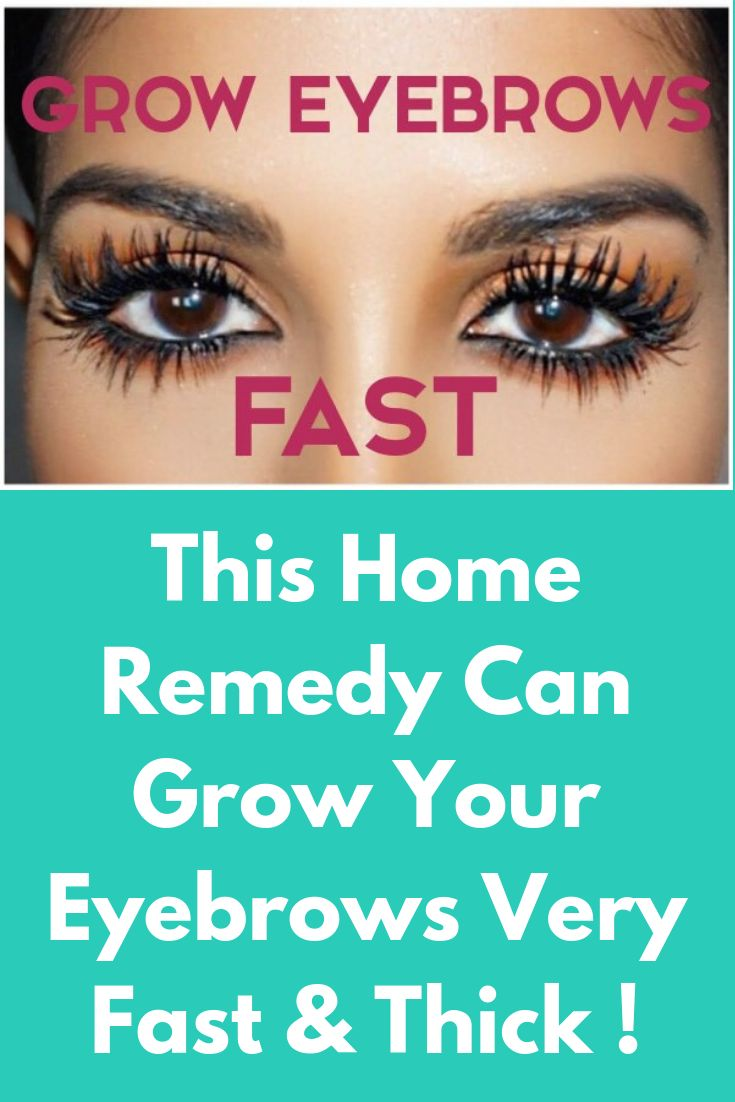 This Home Remedy Can Grow Your Eyebrows Very Fast & Thick ...