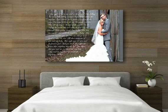 Wedding Vow Art Wedding Song Canvas Wedding Vows by CanvasVows