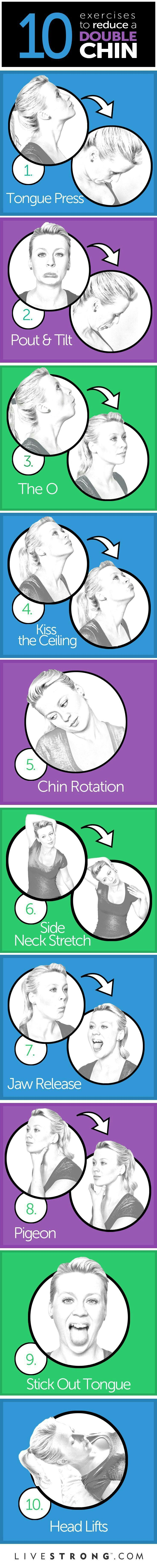 Exercises to reduce double chin