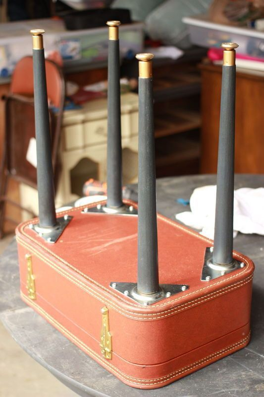 diy vintage suitcase table, chalk paint, diy, how to, painted furniture, repurposing upcycling #handmadefurniture