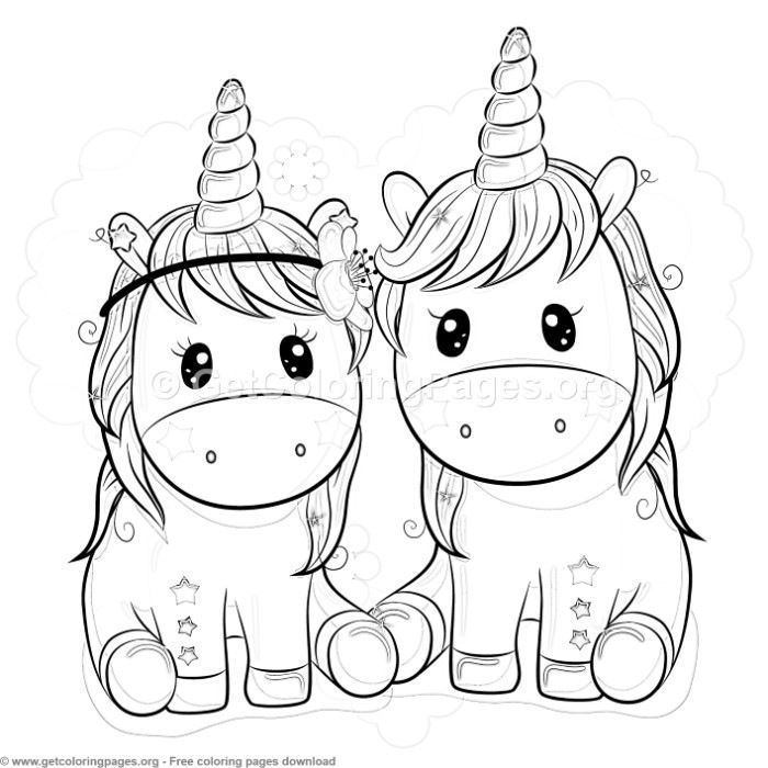 Star Unicorn Coloring Pages Free Instant Download Coloring