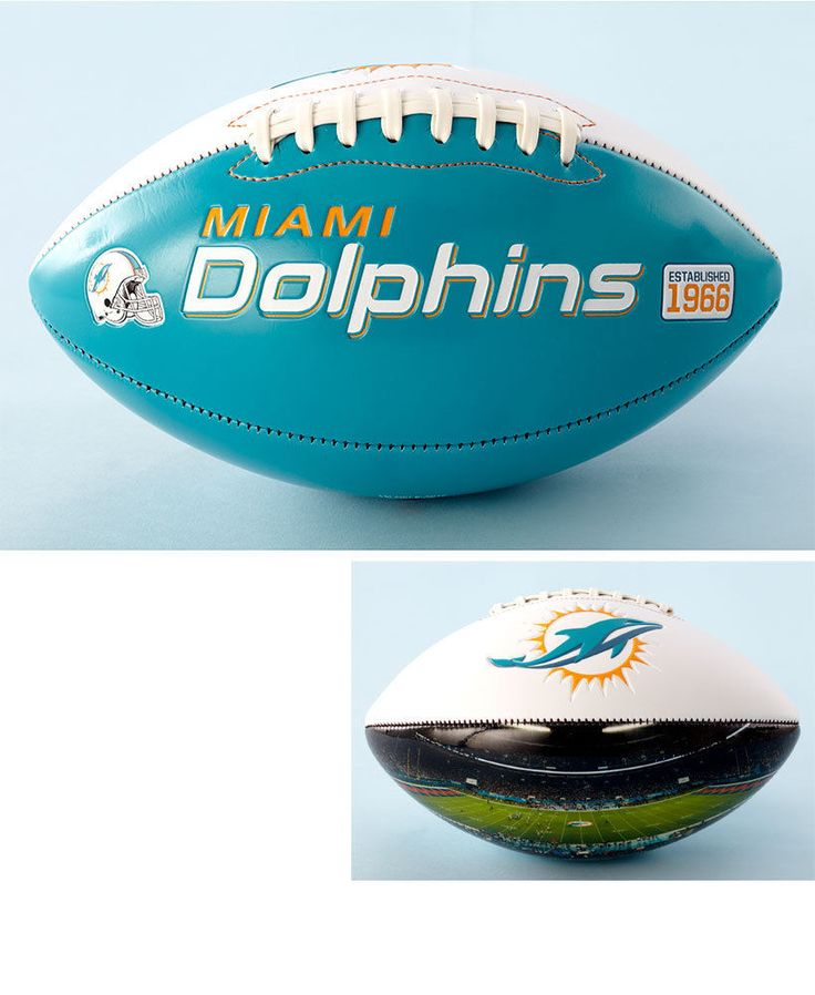 Official NFL Dolphins Team Football With Panoramic Stadium View Collection Gift #OfficialNFL #MiamiDolphins