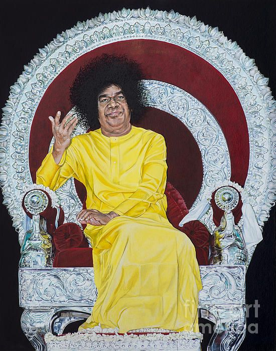 Sathya Sai Baba Greeting Card for Sale by Tim Gainey