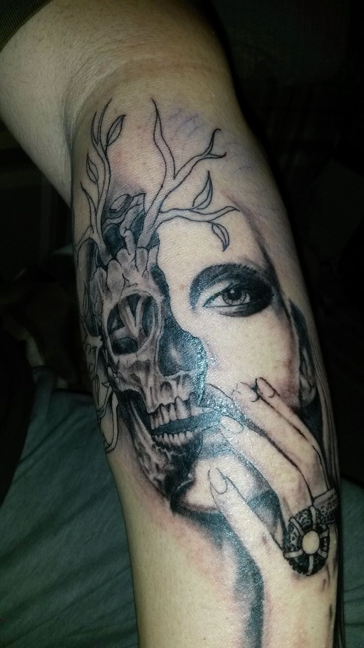 Tattoo in progress!!! Skull, face, labyrinth ... Waiting for opinion ;)