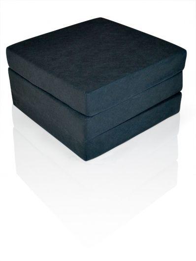 SLEEP Luxus Faltmatratze für Erwachsene in schwarz Komforthöhe 12 cm