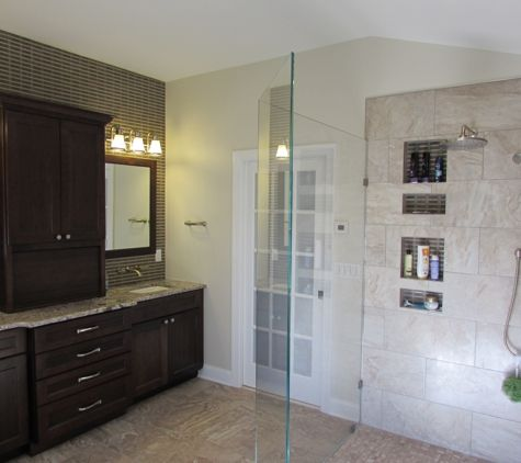 Beautiful Master Bathroom Remodel In New Market, MD By Talon Construction  With A Curbless Walk In Shower