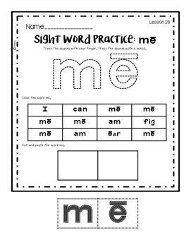 Reading Mastery K: Sight Word Practice Part 1 by The Little Classroom Around the Corner | Teachers Pay Teachers
