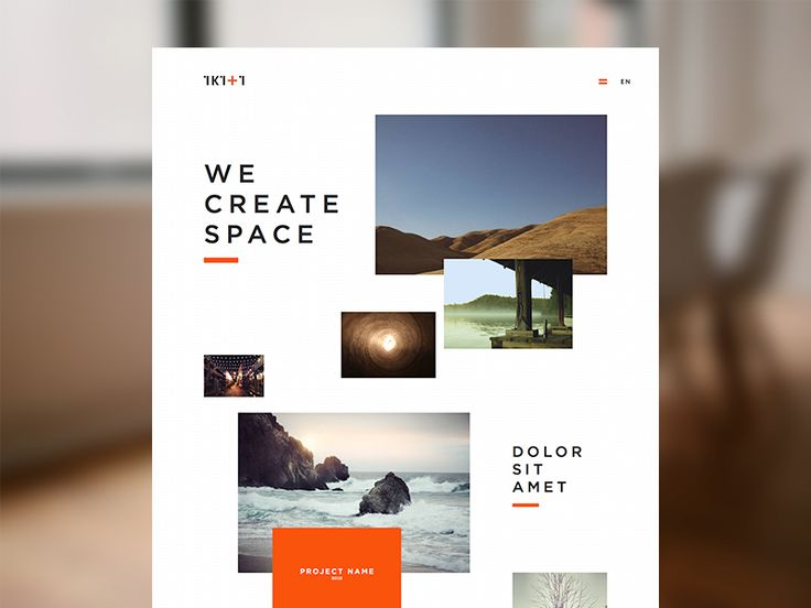 Asymmetrical Website Landing Page Design