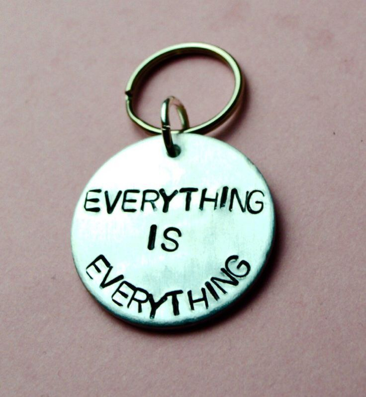 Inspirational keyring, Everything is Everything, Inspirational quote, best friend gift,Gift ideas,inspire,lauryn hill lyrics, Christmas gift by BeesHandStampedGifts on Etsy