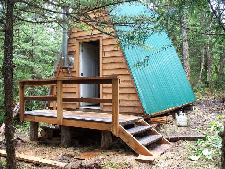 Primitive cabins google search cabins pinterest for Alaska cabin plans