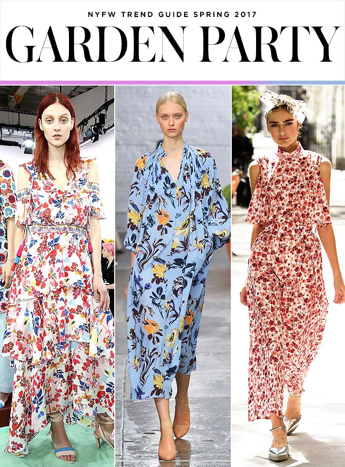 Top 10 Trends from NYFW Spring 2017 |  Garden Florals | Tanya Taylor; Tibi; Lela Rose | Fashion Week SS17