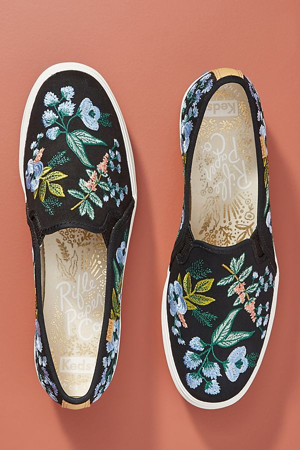 6c8ca777762 Keds x Rifle Paper Co. Triple Decker Embroidered Herb Garden Sneakers